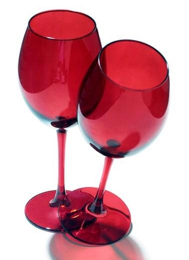 2 Li Kırmızı Kadeh-Joy Glass
